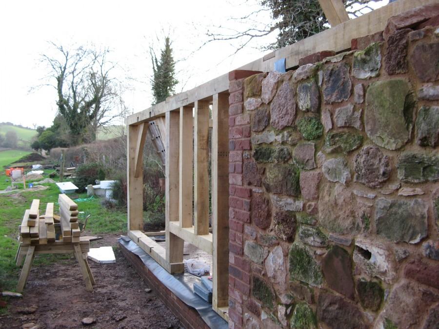 Kenn, Nr. Exeter - Oak Frame Garden Rooms   T and S Framing