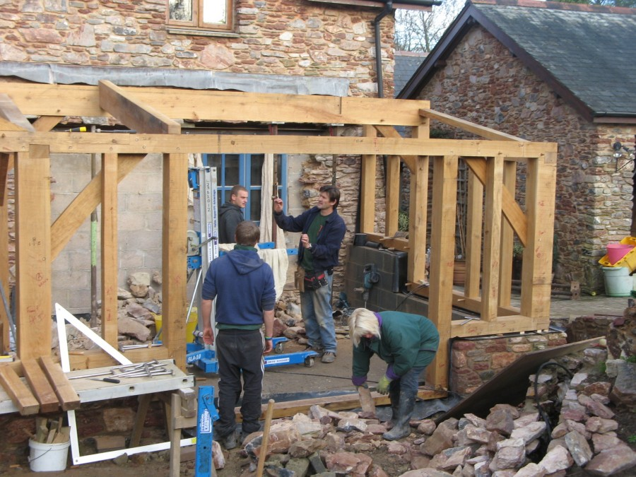 Ipplepen timber framed kitchen and garden room t and s for Flat pack garden room