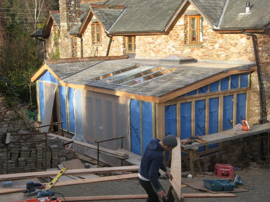 Ipplepen timber framed kitchen and garden room t and s for Garden rooms jersey