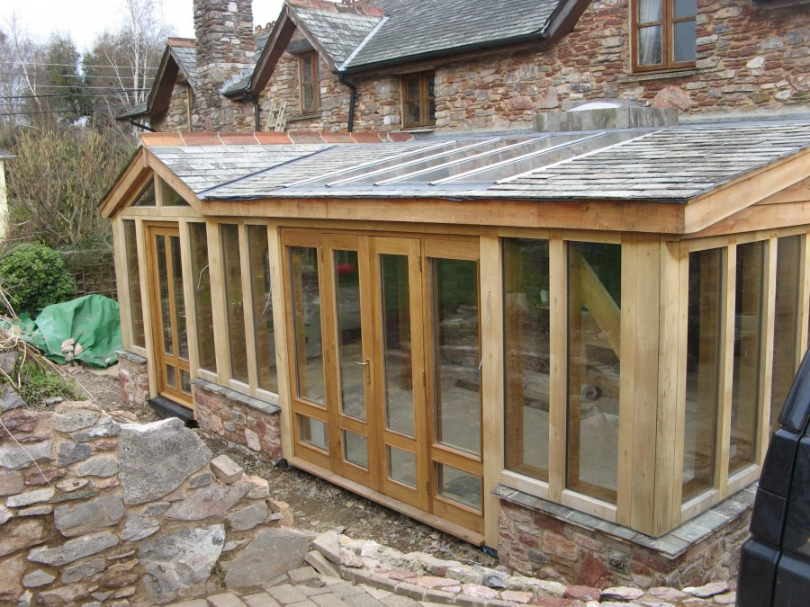 Ipplepen timber framed kitchen and garden room t and s for Timber garden rooms
