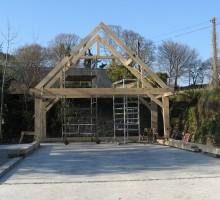 framing oak timber devon