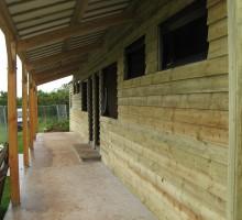 oak frame timber building