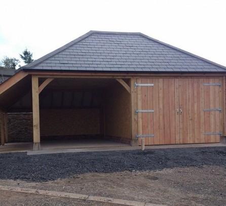 Oak Garage Building Devon