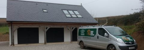 A touch of timber framing to a modern build